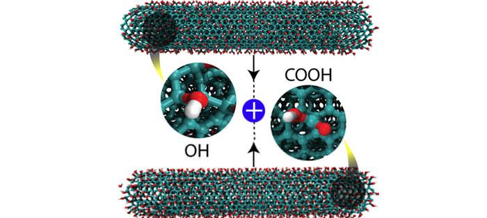 那么这些大量的纳米结构和化学官能团